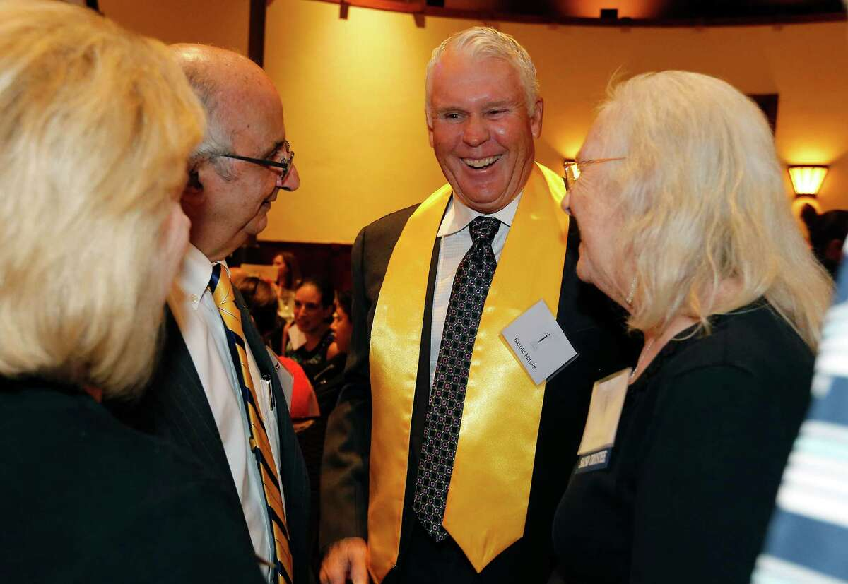 Bill Miller's proprietor Balous Miller shares a laugh with guests at the 5th Annual Inspire Awards on Wednesday, Sept. 23, 2015. The Miller family was honored with the Excellence Award by the San Antonio Independent School District Foundation. Other notable honorees were broadcast journalist John Quinones, an alumnus of Brackenridge High School, who was honored with the Service Award and retired Chief Justice of the U.S. Fourth Court of Appeals Alma L. Lopez-Cavazos for the Leadership Award who graduated from Burbank High School. The event was held at the Pearl Stable.