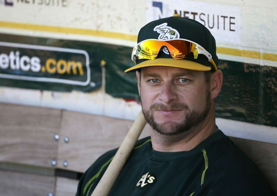 Oakland Athletics catcher Stephen Vogt before the start of their baseball game against the Seattle Mariners Saturday, Sept. 5, 2015, in Oakland, Calif. (AP Photo/Eric Risberg) Photo: Eric Risberg, Associated Press
