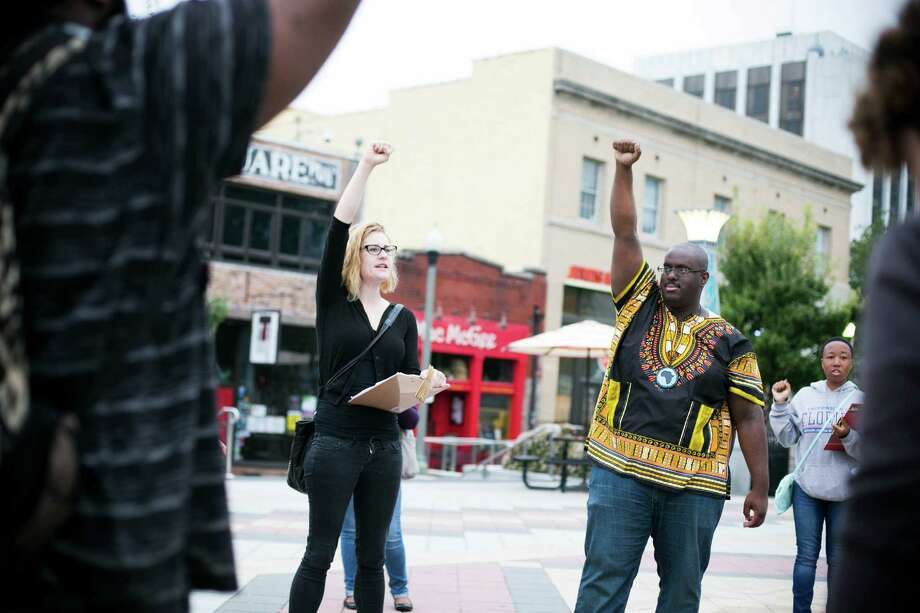 "Starbucks employees protest working conditions this week outside one of the chain's locations in Decatur, Ga. Jaime Riley, a company spokeswoman, says: ""We're the first to admit we have work to do."" Photo: BRYAN MELTZ, STR / NYTNS"