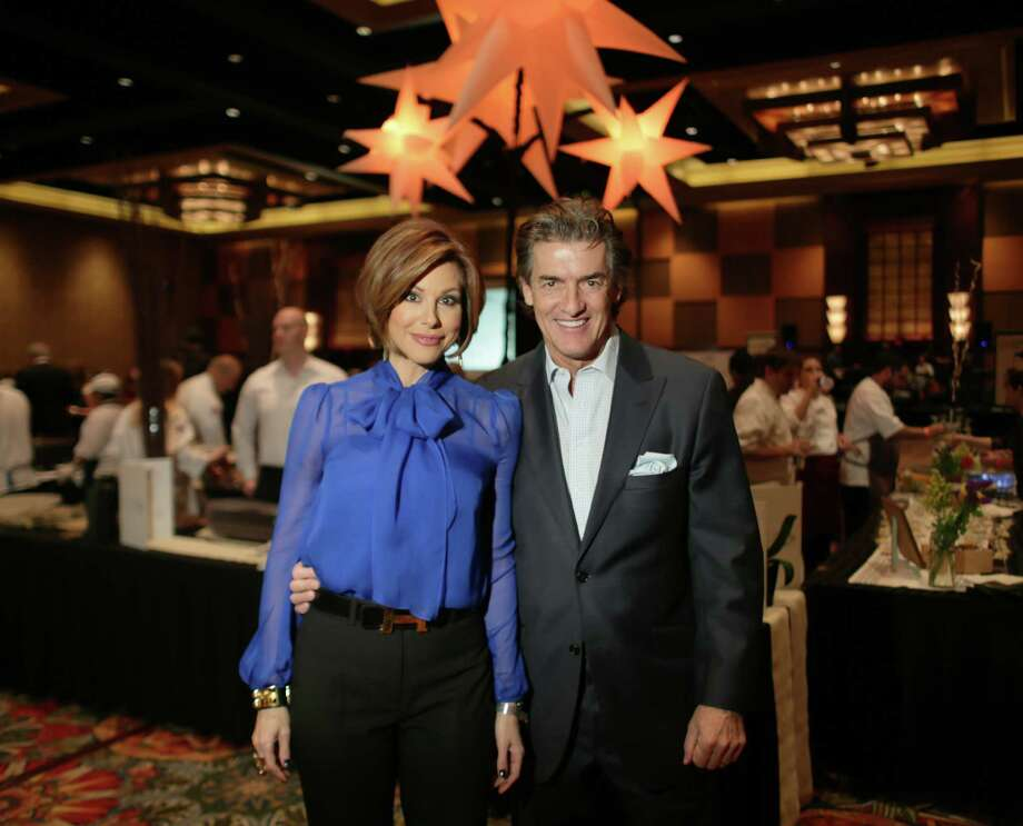 KPRC anchorwoman Dominique Sachse and her husband, Nick Florescu, attend the 2nd annual Houston Chronicle Culinary Stars event marking the announcement of food critic Alison Cook's Top 100 Restaurants list on Wednesday in Houston. Photo: Jon Shapley, Houston Chronicle / © 2015 Houston Chronicle