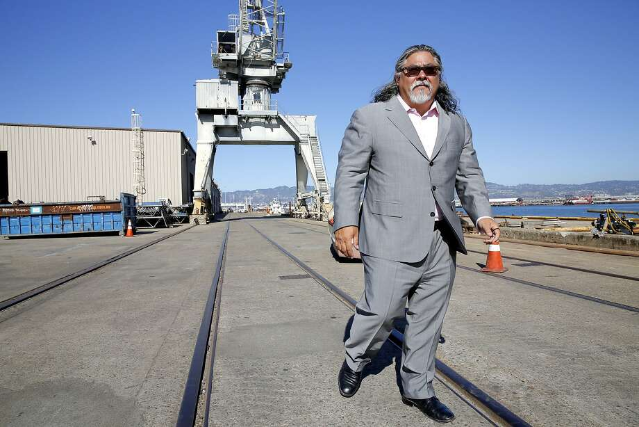 "Phil Tagami has worked for nearly eight years to develop a project at the long-shuttered Oakland Army Base that he says will bring a ""world-class"" export terminal to the barren land. Photo: Connor Radnovich, The Chronicle"