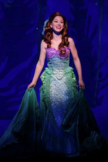 "Alison Woods plays the title role in the touring production of ""The Little Mermaid,"" playing through Sunday at the Majestic Theatre. Photo: /Courtesy Bruce Bennett / Bruce Bennett 2015 and beyond"