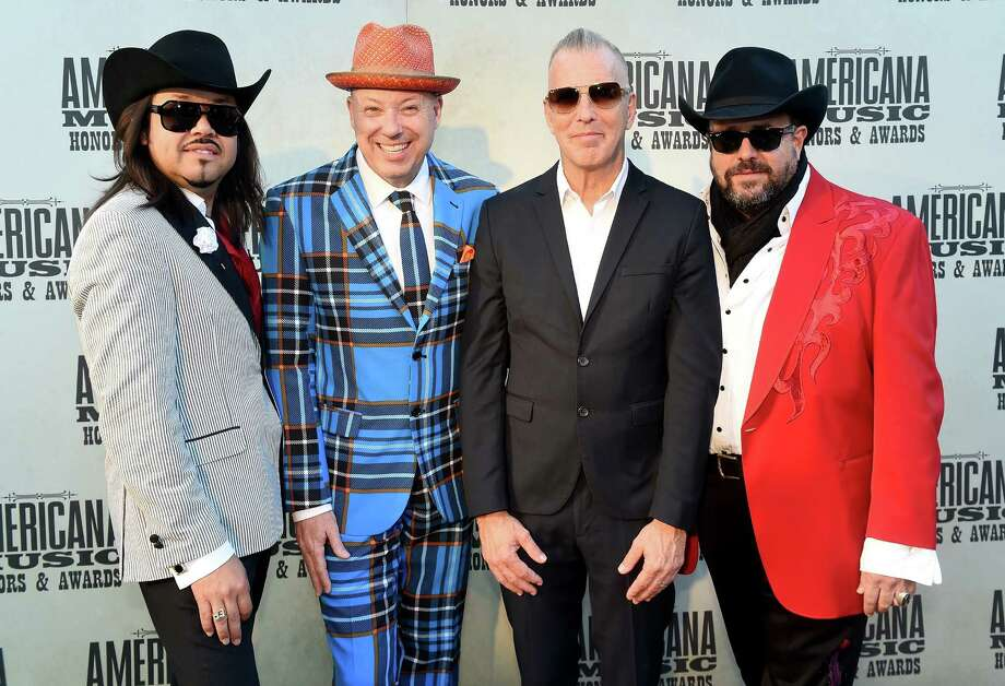 The Mavericks' Eddie Perez, Jerry Dale McFadden, Paul Deakin and Raul Malo attend the Americana Music Association's show in Nashville this month. Photo: Erika Goldring /Getty Images For Americana Music / 2015 Getty Images