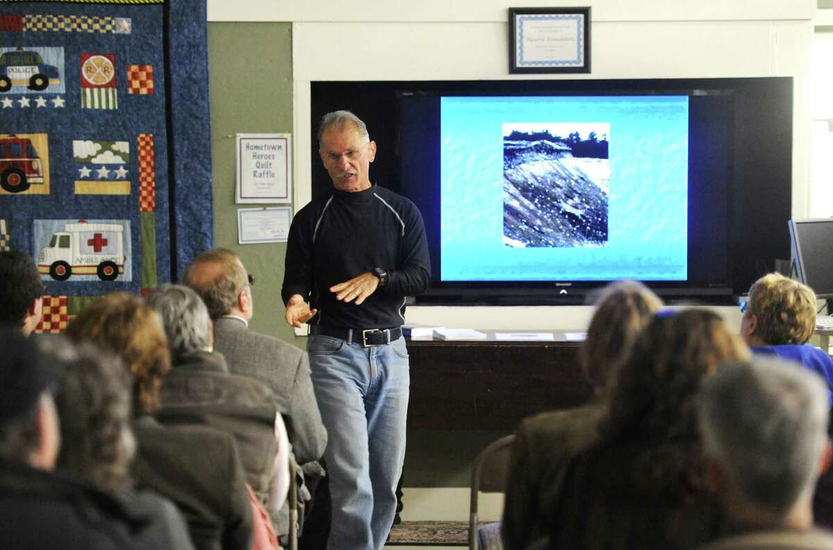 Connecticut State Archaeologist Nicholas Bellantoni speaks about vampire folklore beliefs in historic Connecticut at the Danbury Historical Society in Danbury, Conn. on Saturday, Oct. 26, 2013.