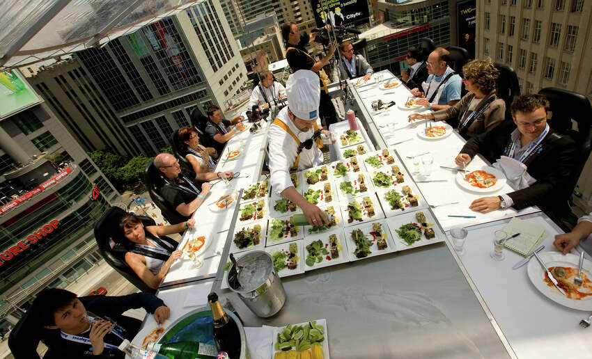 Dinner in the Sky provides guests with a sky-high dining experience with beautiful sunsets, gourmet food and plenty of wine and spirits.