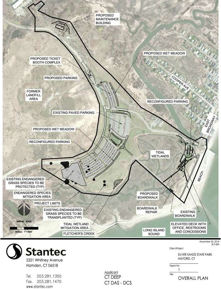 Map showing proposed improvements to Silver Sands State Park in Milford. Photo: Provided By The State Department Of Energy And Environmental Protection