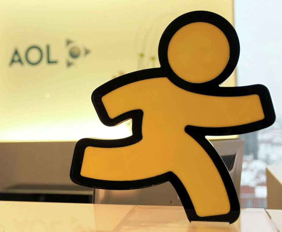 FILE - In this Jan. 12, 2010 file photo, the AOL Running Man icon is pictured at AOL's Hamburg, Germany headquarters. Photo: Axel Heimken, Getty Images / APD