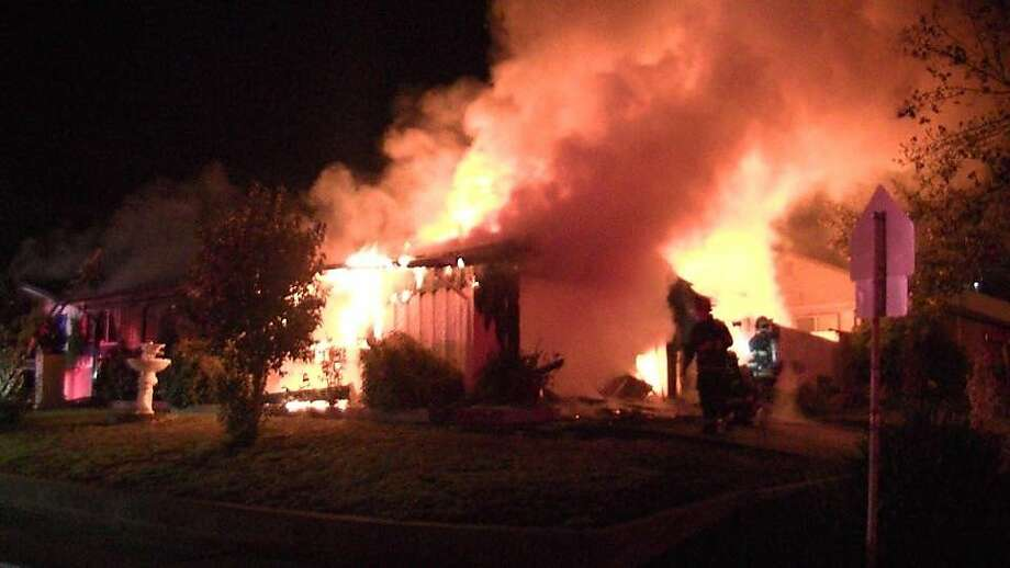 A man was injured in a house fire in Vallejo early Thursday morning, officials said. Photo: William Tweedy