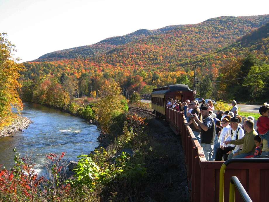 "Courtesy of CMRR ""Fall foliage train riding alongside Esopus Creek"""
