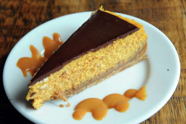Pumpkin cheese cake at the Twisted Vine Wine & Tap on Tuesday Sept. 22, 2015 in Delmar, N.Y.  (Michael P. Farrell/Times Union) Photo: Michael P. Farrell / 00033445A