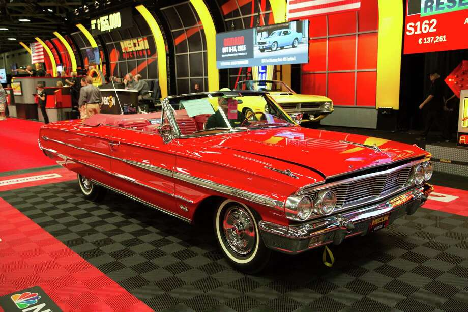 10.	1964 Ford Galaxie 500XL Convertible at $152,500 Photo: Christoffel, Photos Courtesy Of Mecum Auctions / Liquid Media,Inc