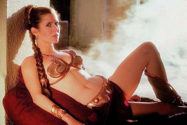 """Carrie Fisher in """"Return of the Jedi."""""""