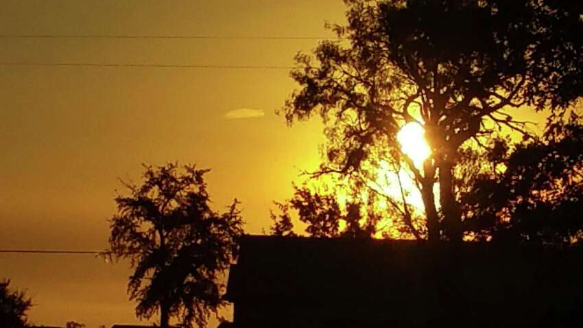 A woman in Seguin took this photo at 7:30 a.m. Sept. 23, 2015, and submitted it to the Mutual UFO Network (MUFON). She said she noticed a star to the east, which changed shape and flattened out to this disk shape.Read More: UFO spotted in Seguin, Texas at sunrise