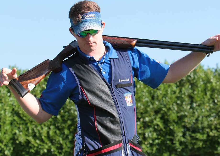 Gavin Scott, 17, a Boerne Champion senior, won the gold in the World Cup Championship for the Junior division in helice shooting, an especially difficult form of trap shooting. He's working on earning a spot on both the U.S. teams for the World Championships and Junior Olympics. Photo: Courtesy Photo