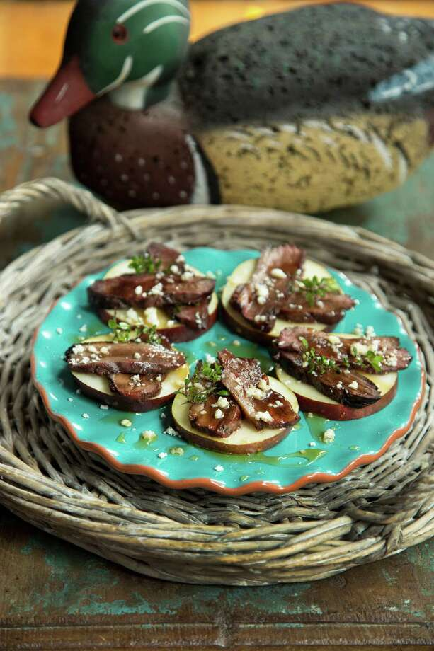 Smoked duck appetizers. Photo: Robert Peacock