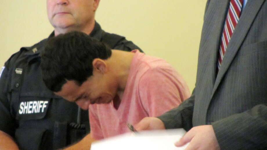 Andrew Hernandez appears in Rensselaer County Court on drug charges Tuesday, Aug. 4, 2015, in Troy, N.Y. (Bob Gardinier/Times Union)