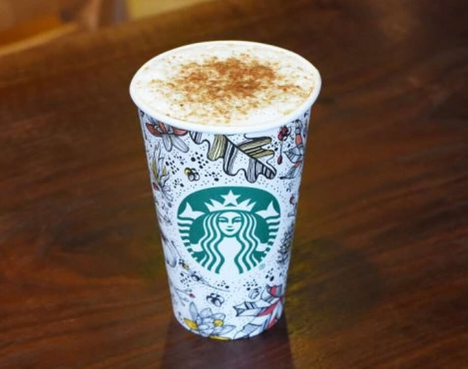 Starbucks has introduced its first-ever fall to-go cup design