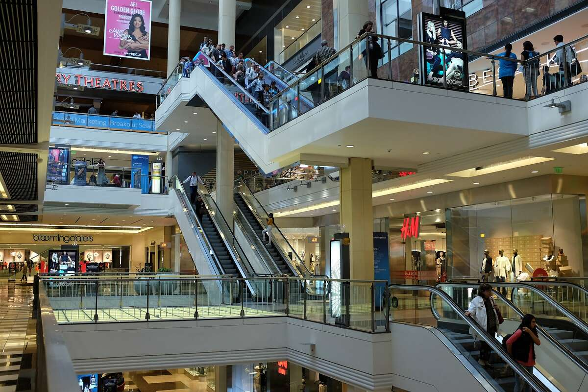 Shoppers roam the Westfield San Francisco Centre, Tuesday, Sept. 15, 2015, in San Francisco, Calif.