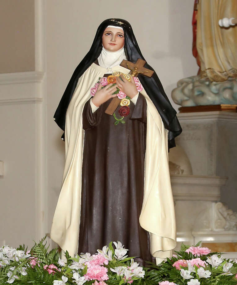 This is a photo of the statue of St. Thérèse that was stolen from the Basilica of the National Shrine of the Little Flower, which was named for the saint, after noon Mass on Wednesday.