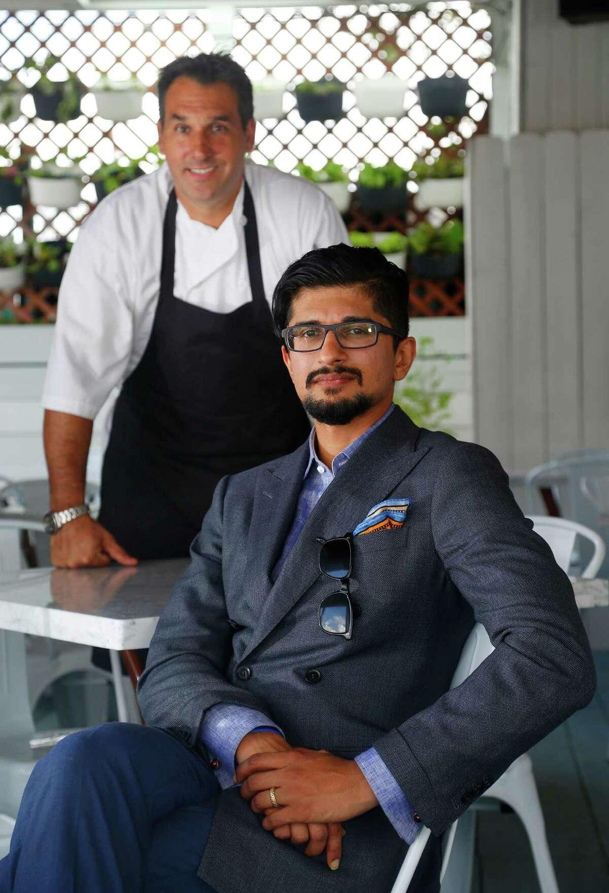 The Durham House's original chef, Don Schoenberg and owner Raj Natarajan, Jr.