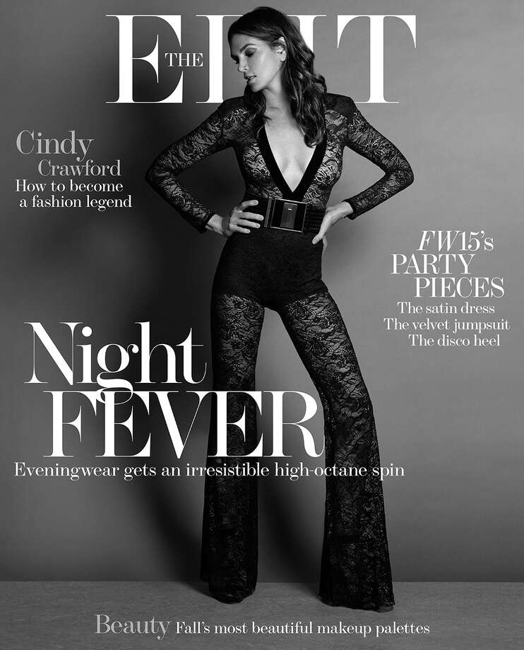 Cindy Crawford on the cover of Net-a-Porter.com's digital magazine, The Edit. 