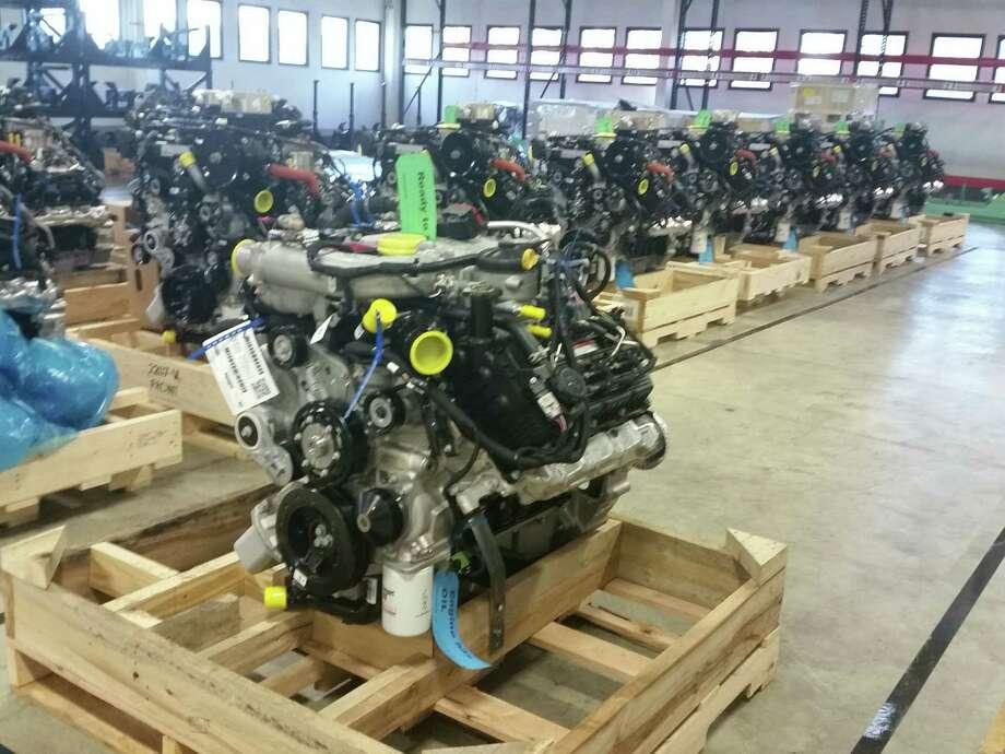 Titan XD's 5.0-liter Cummins V8 Turbo diesel engine Photo: Jim Nelson