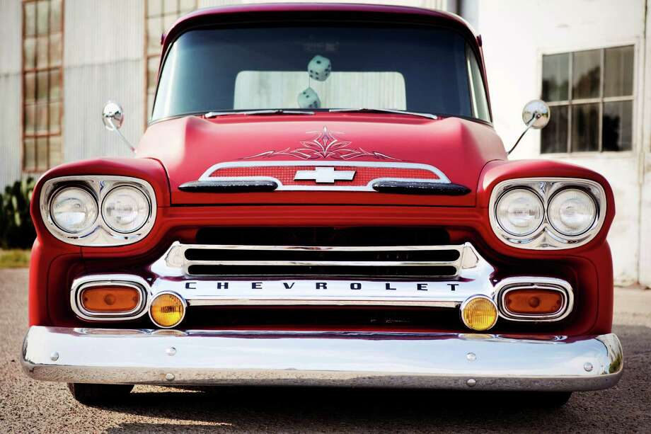 Lance Nguyen has had his 1959 Chevy Apache pickup truck for about eight years. After deciding that he wanted a classic truck project to work on, he sold his 2002 Chevy truck to fund the classic project. Photo: Melissa Gamez