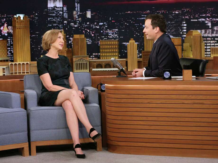 "Republican presidential candidate Carly Fiorina, left, appears with host Jimmy Fallon during a taping of ""The Tonight Show with Jimmy Fallon."" A reader expresses her support for Fiorina. Photo: Douglas Gorenstein /Associated Press / NBC"