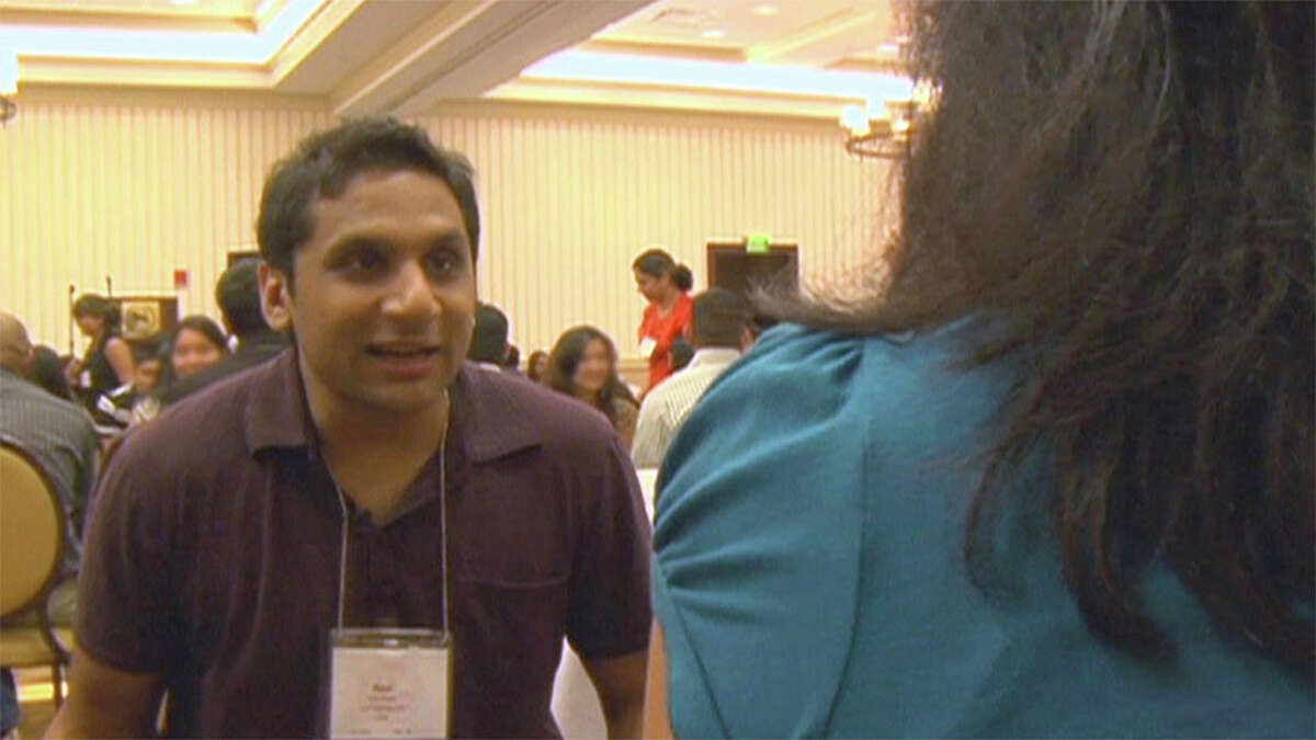 """Ravi Patel speed dating at a Patel matrimonial convention in """"Meet the Patels."""" Illustrates FILM-PATELS-ADV18 (category e), by Jen Chaney, special to The Washington Post. Moved Tuesday, Sept. 15, 2015. (MUST CREDIT: Four in a Billion Pictures/Alchemy.)"""