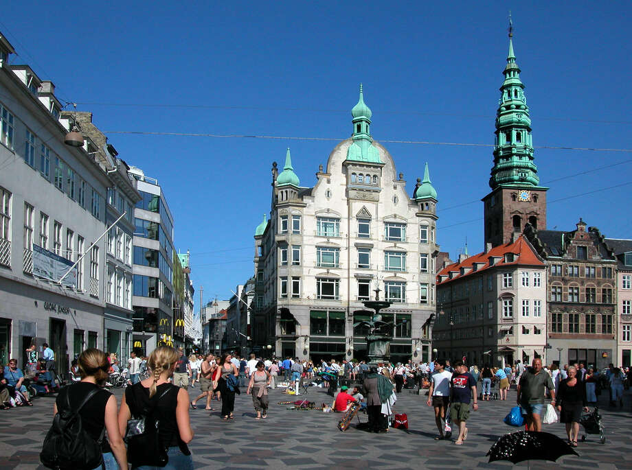 In Copenhagen, it's easy to feel at home on the Stroget, Europe's first and greatest pedestrian shopping mall. Photo: Rick Steves / Rick Steves' Europe