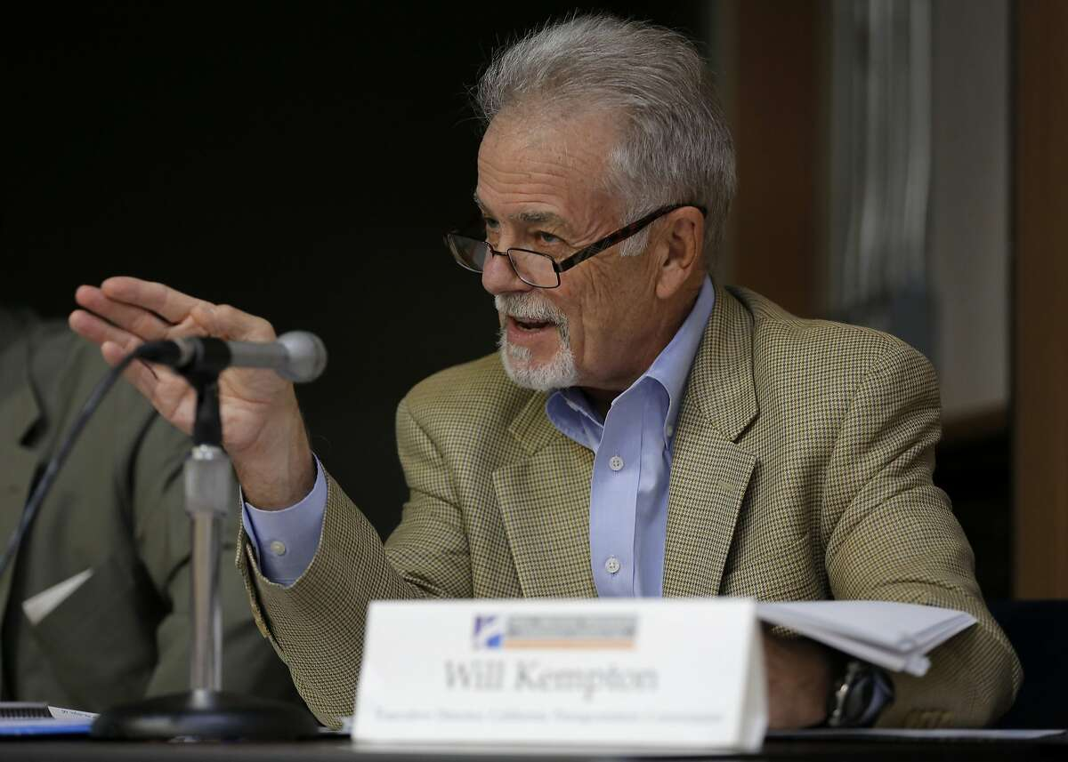 Will Kempton, executive director of California Transportation Commission, speaks during a meeting of the Toll Bridge Program Oversight Committee at the California Department of Transportation in Sacramento, California, on Thursday, Sept. 24, 2015.