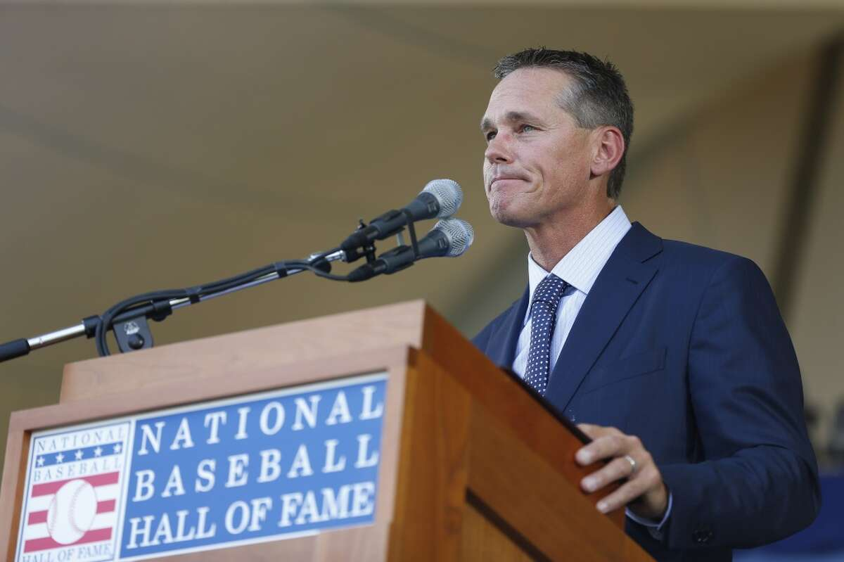 Houston's Baseball Hall of Famer: Craig Biggio He spent his entire 20-year career with the Astros, becoming the first player to go into the Hall of Fame with a Houston logo on his plaque. He's the greatest Astro of them all and soon will be joined in Cooperstown by Jeff Bagwell.