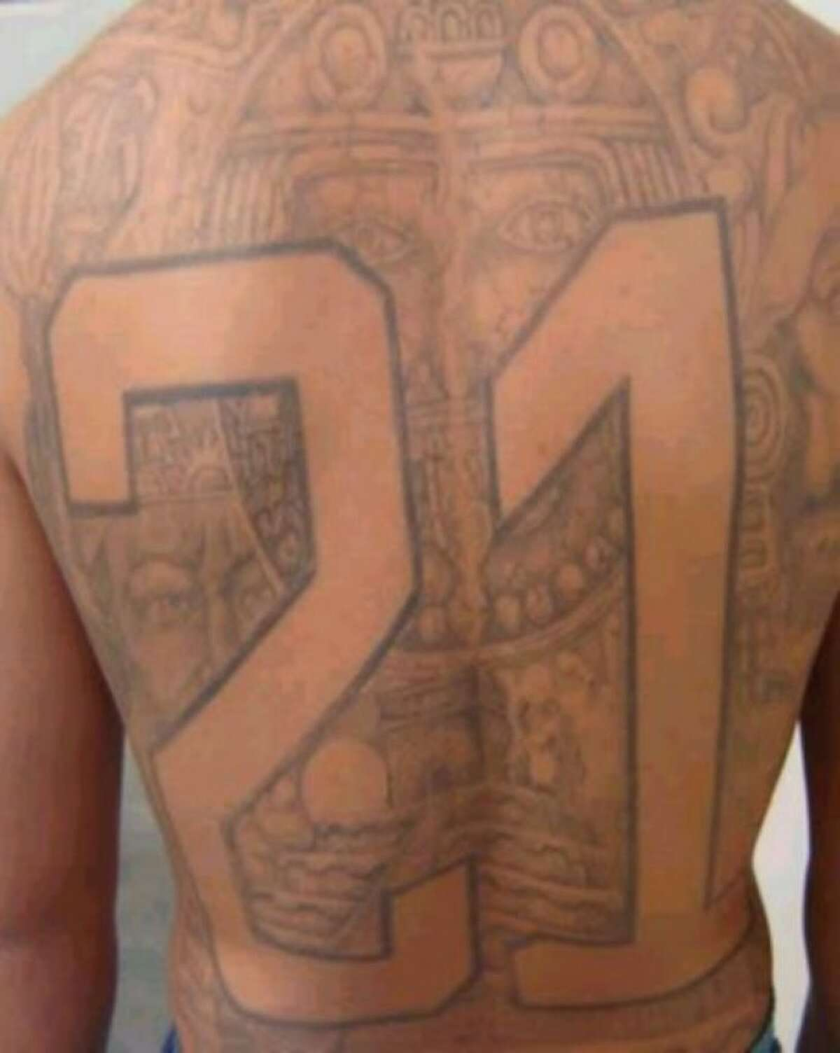 When it comes to tattoos, Barrio Azteca members use the number