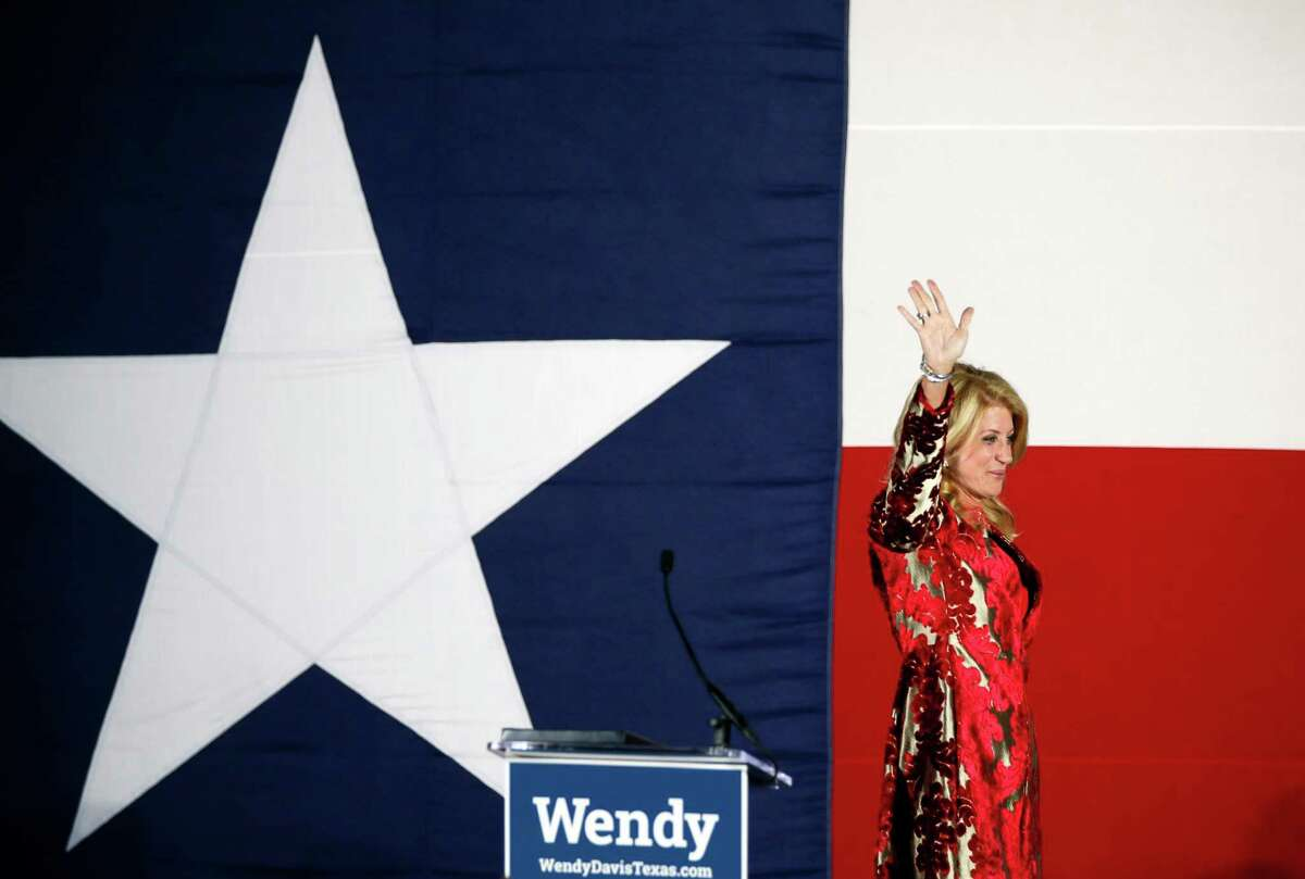 Wendy Davis lost the 2014 Texas gubernatorial race by almost 1 million votes. She said she hopes to run for office again someday but hasn't decided when.