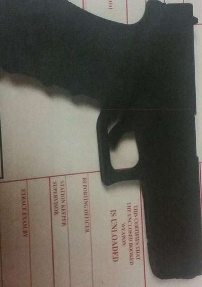 One of two handguns confiscated after San Francisco police stopped two armed men wearing masks walking through the Potrero Hill neighborhood on the morning of Thursday, Sept. 24, 2015. Photo: Courtesy, San Francisco Police Department