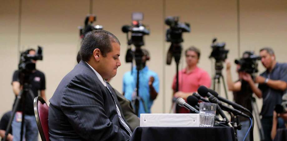 Jay High School head football coach Gary Gutierrez testifies Thursday before the University Interscholastic League State Executive Committee in Round Rock. Photo: Eric Gay, STF / AP