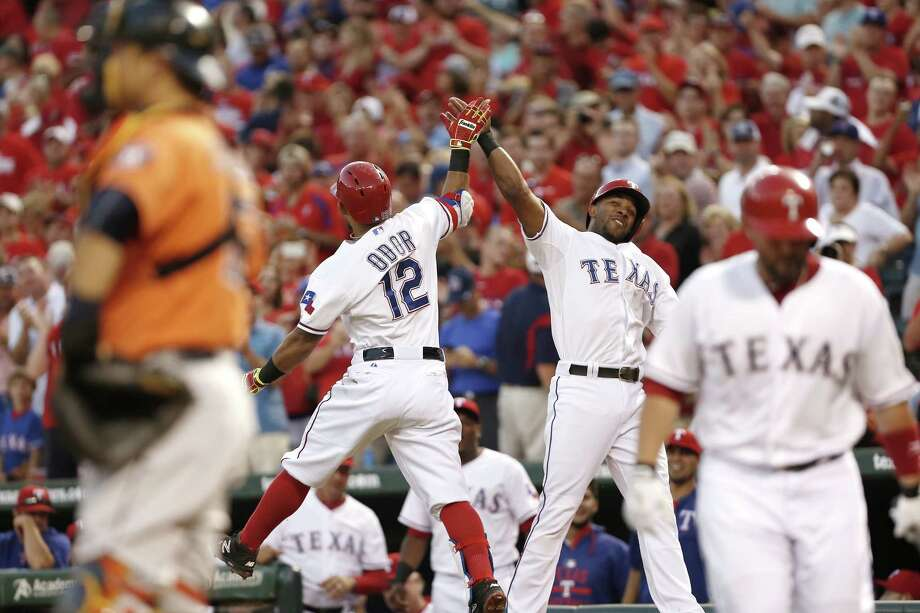 The Rangers are flying high, having opened a 31/2-game lead in the American League West after trailing the Astros by eight games on Aug. 2. Photo: Brandon Wade, Stringer / 2015 Getty Images