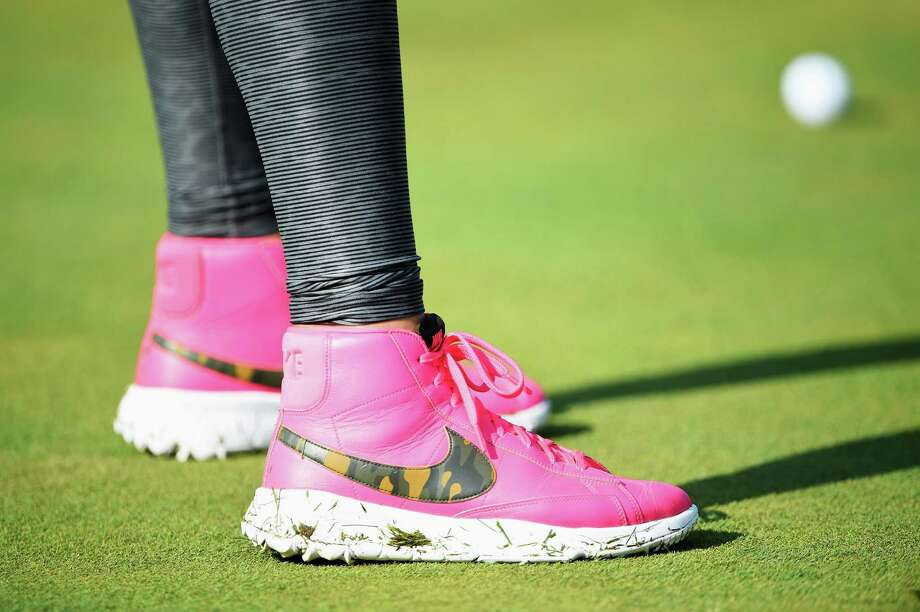 Golfer Michelle Wie wears Nike booties during a French tournament earlier this month. Photo: Stuart Franklin, Staff / 2015 Getty Images