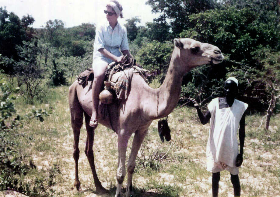 Catherine Onyemelukwe on a trip to Niger during her service with the Peace Corps in Africa during the 1960s. Photo: Contributed Photos / Westport News