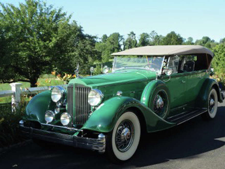 Vintage vehicles like this Packard will be showcased when Concours d'Caffeine returns Oct. 4 next to the Saugatuck Railroad Station. Photo: Contributed / Contributed Photo / Westport News