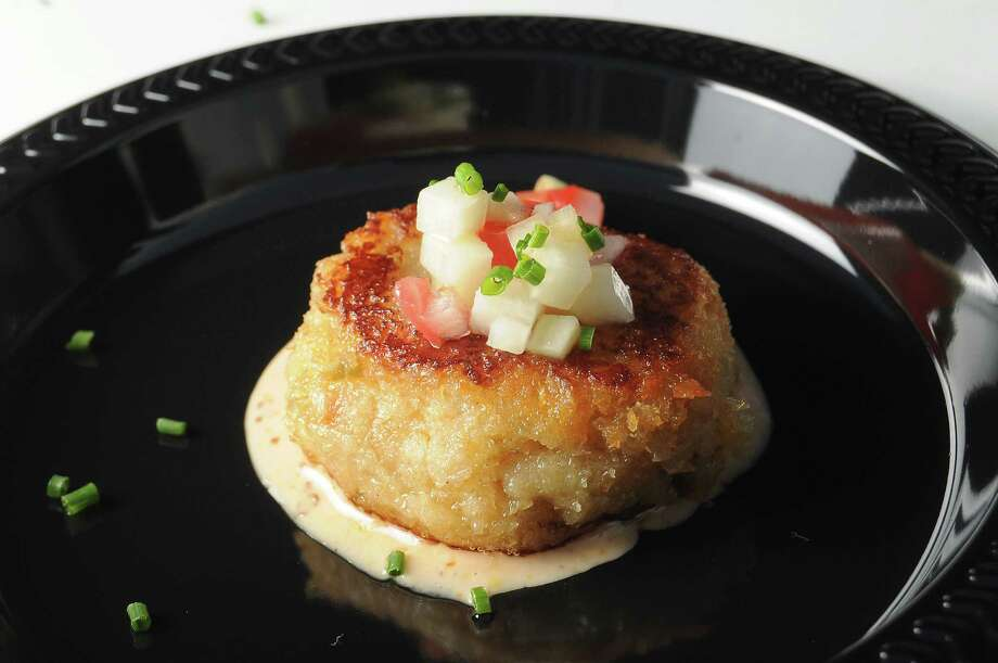 A mirliton crab cake from Harold's Restaurant Photo: Dave Rossman, For The Chronicle / Freelalnce