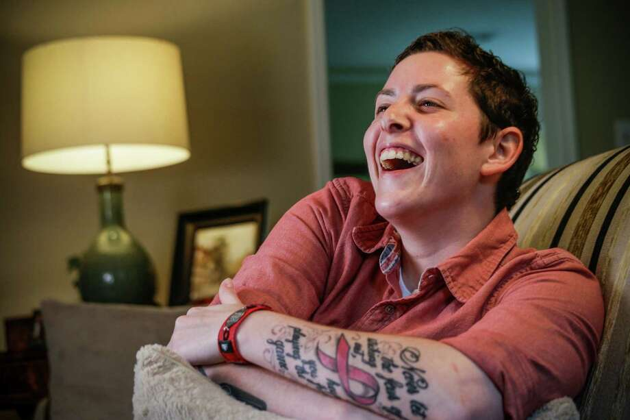 Olivia Kaufman, a breast cancer survivor, found out she had a genetic mutation only after her cancer diagnosis. Photo: Brett Coomer, Staff / © 2015 Houston Chronicle
