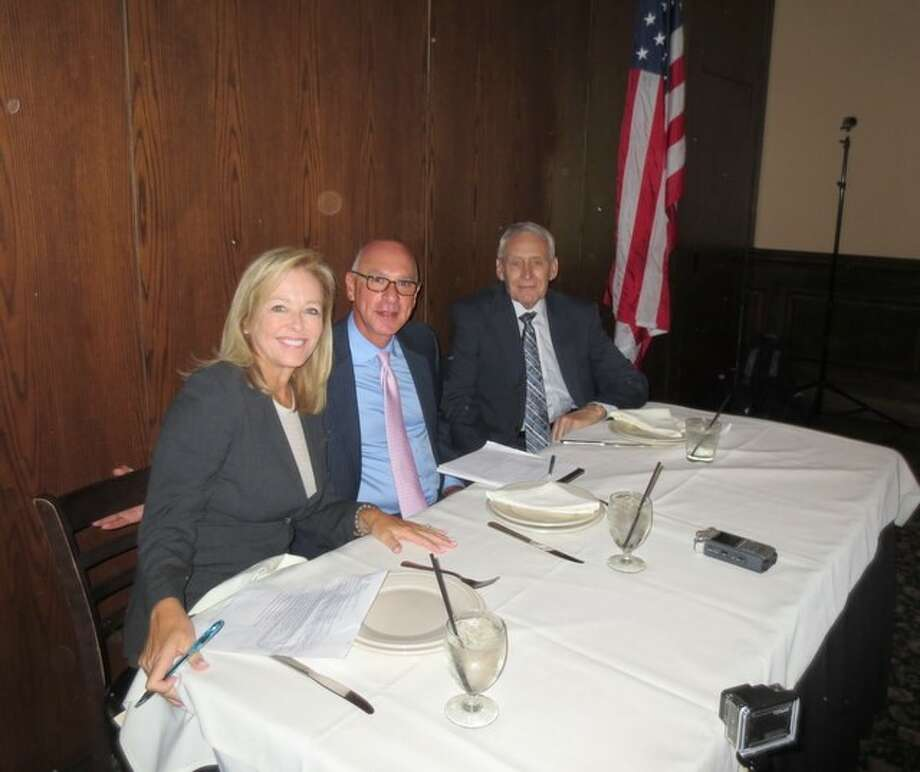 Laura Sweeney, Hedley Karpas and David Young attended the luncheon. Photo: John Daugherty, Realtors