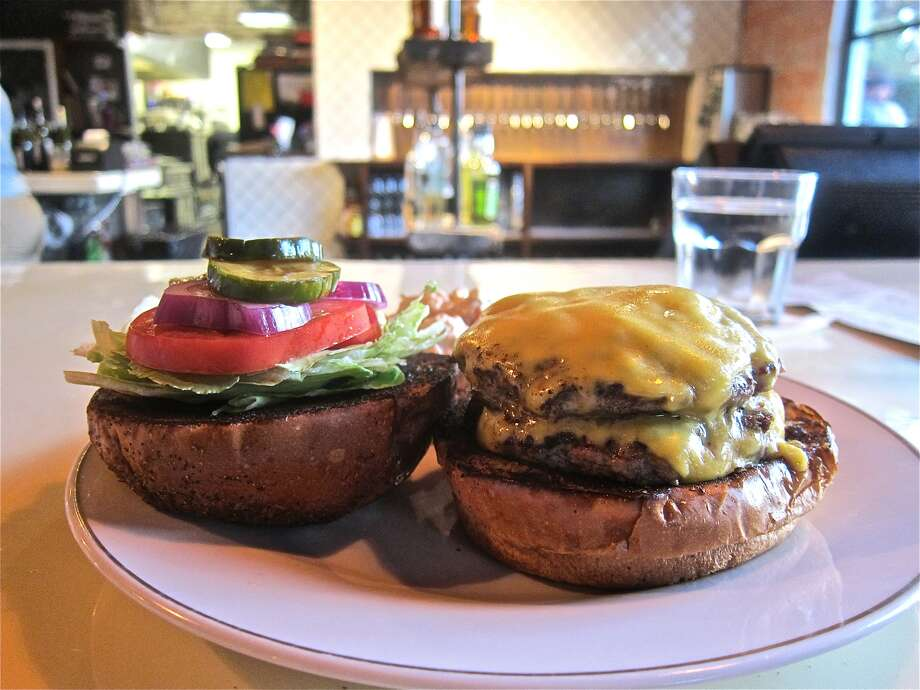 "The double meat, double cheese burger at Southern Goods earns an ""enthusiastic A."""