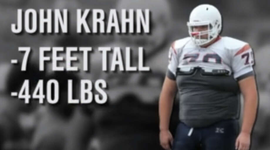 High school football player John Krahn, from Southern California's Inland Empire, is 7 feet tall and 440 pounds. Photo: Fox Sports