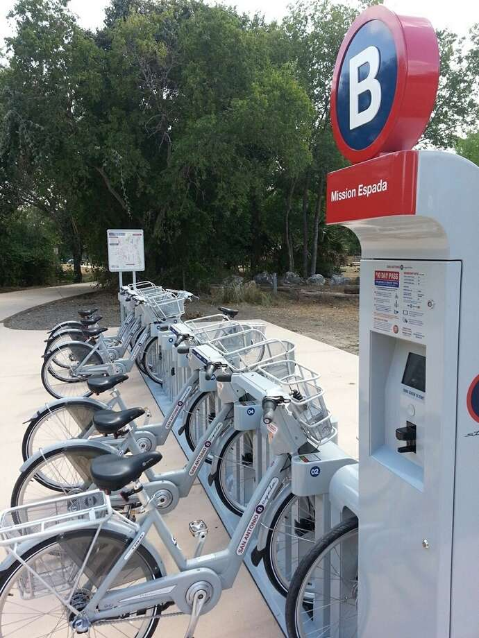 B-cycle stations along the Mission Reach of the San Antonio are used most often by riders renting the bikes. Three more stations will be added next week north of downtown. Photo: San Antonio Express-News File Photo / San Antonio Express-News