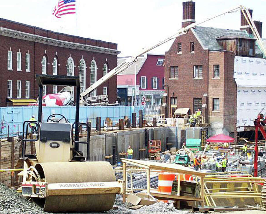 Construction around the downtown site of the Bedford Square project will cause street closures and disrupt traffic patterns over the next several weeks. Photo: File Photo / File Photo / Westport News