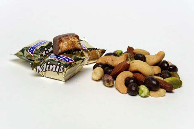 Choose mixed nuts over those snickers.    (Skip Dickstein / Times Union) Photo: Skip Dickstein / 00024127A