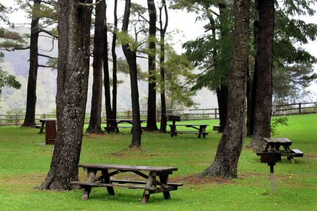 Picnic area on Thursday, Sept. 29, 2011, at Thatcher Park in New Scotland, N.Y. (Cindy Schultz / Times Union) Photo: Cindy Schultz / 00014791A