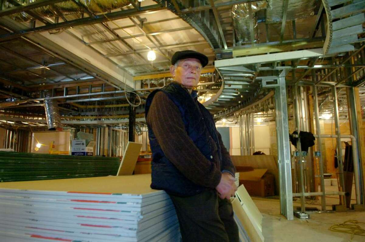 Lucas Gabriele, co-owner of Luca's Steakhouse, inside the restaurant which is being renovated, in Greenwich, on Wednesday, March 24, 2010.